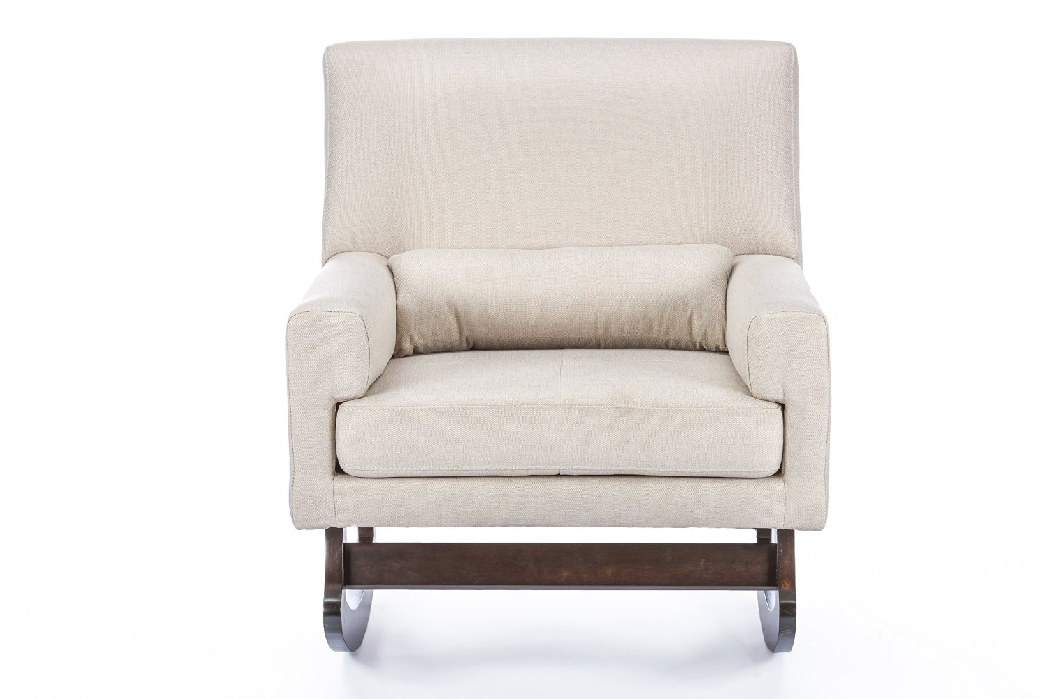 ... Baxton Studio Imperium Linen Contemporary Rocking Chair with Pillow