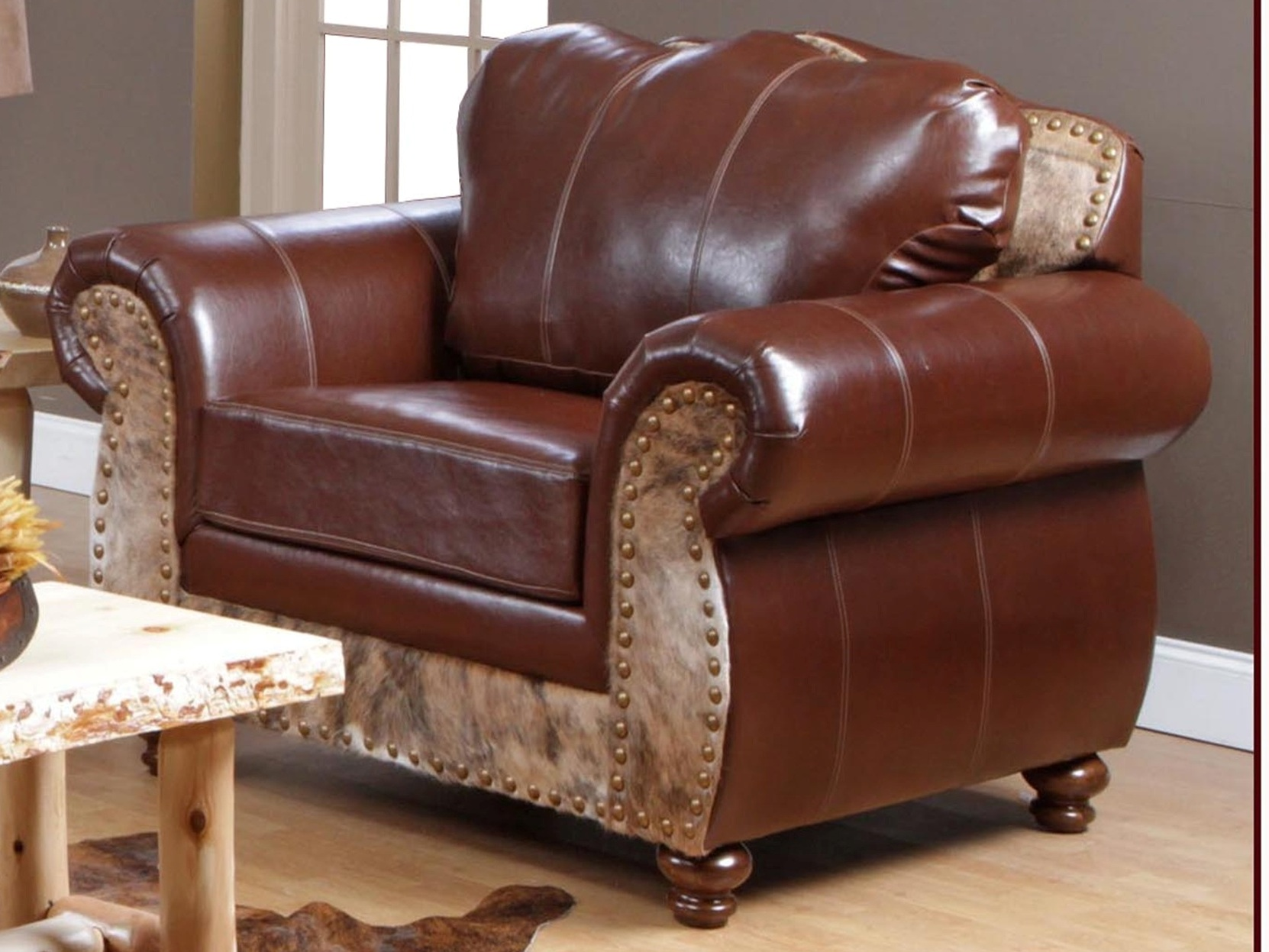 Saddle Me Up Cowhide Top Grain Leather Sofa 5869 S