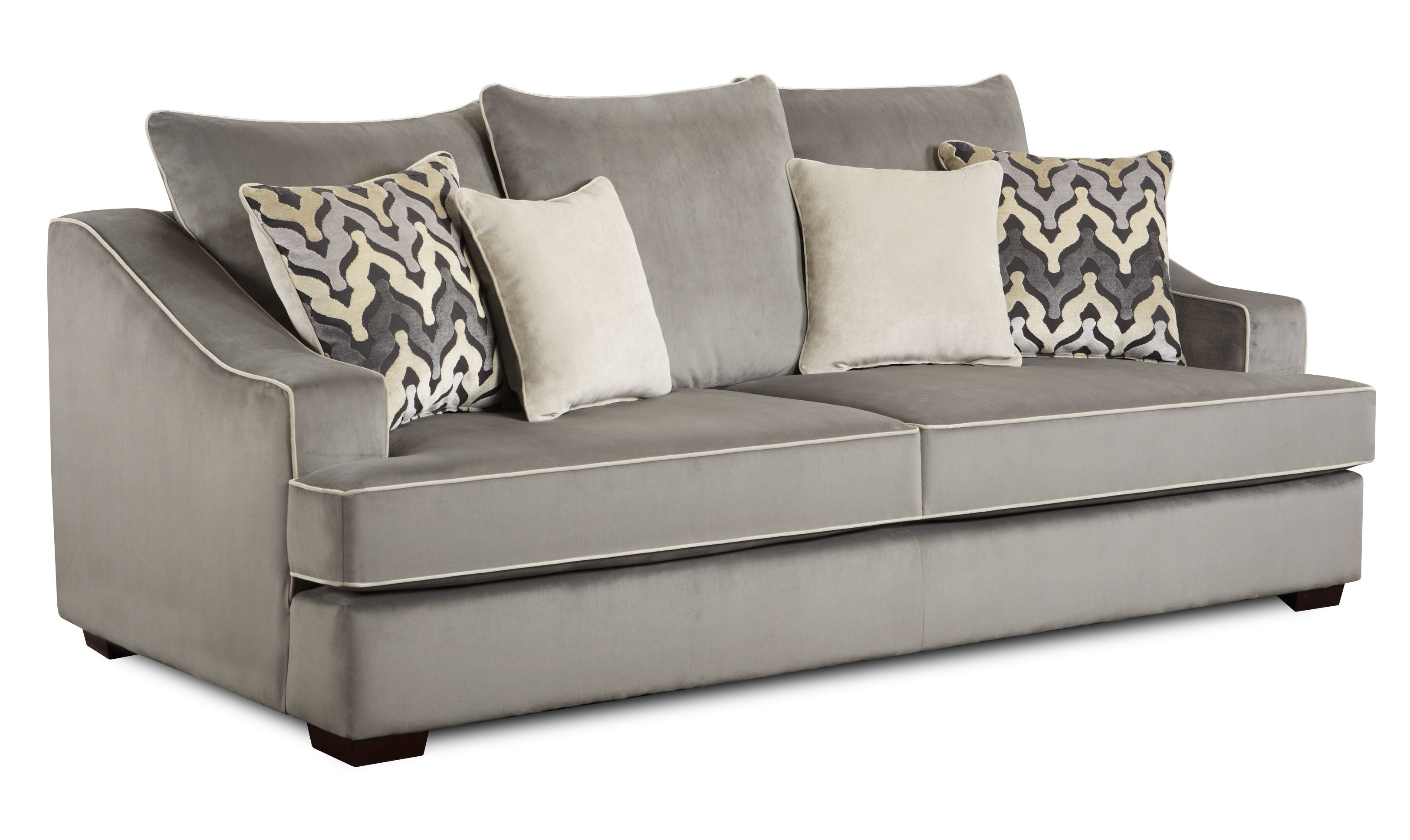 Darrell Sofa In Smoke Luxe By Chelsea Home Furniture