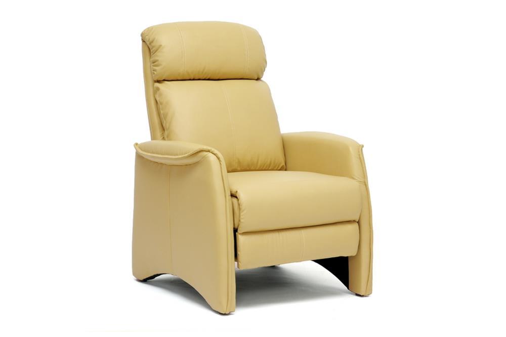 Contemporary Reclining Chairs : Home Baxton Studio Aberfeld Tan Modern Reclining Club Chair A-062-Tan