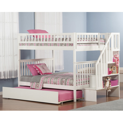 Twin All In One Loft Bunk Bedes With A Desk A Chair An Extra Bed Car