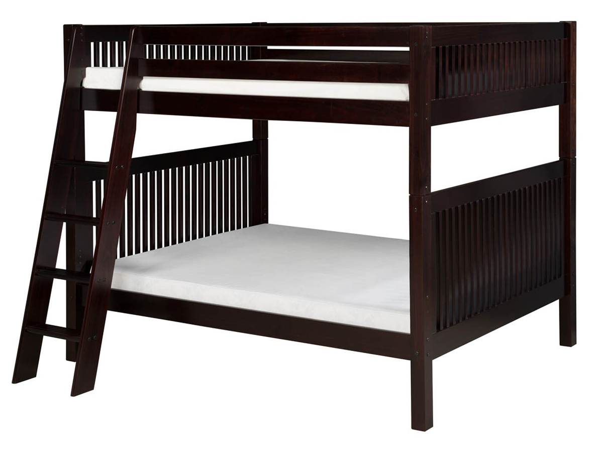 Home Camaflexi Full over Full Bunk Bed, Mission Headboard with Angled  1200 x 894