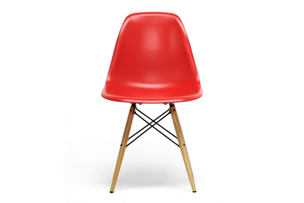 Azzo red mid century modern shell chairs set of 2 dc 231a red 2