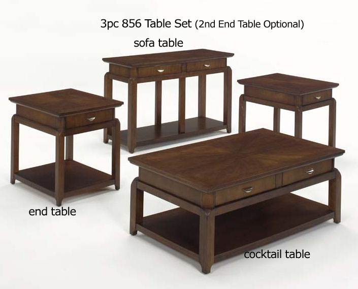 Jackson furniture castered 3pc cocktail table with drawers for Coffee table 80 x 50