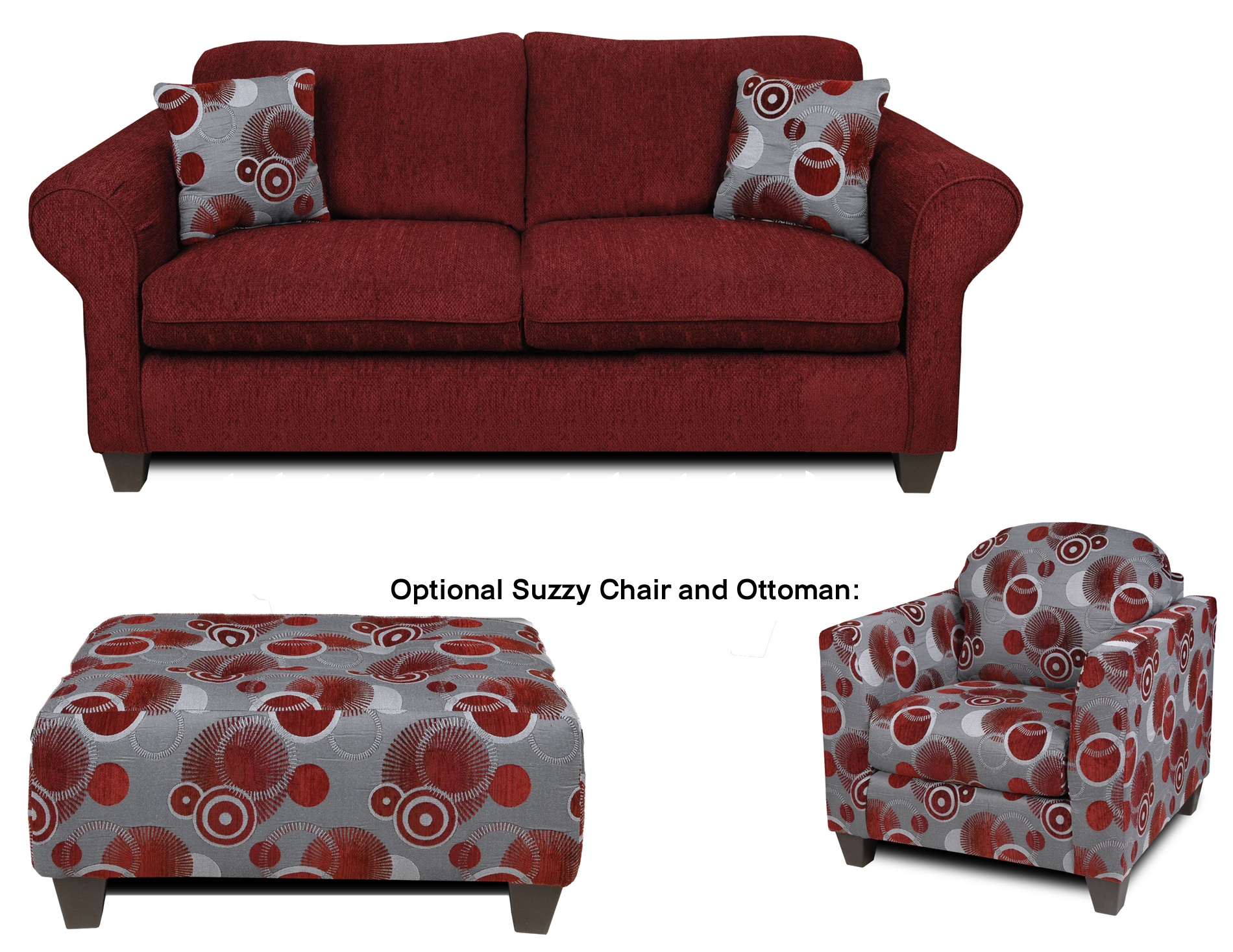 Liberty Upholstery Libby Love Seat In Tahoe Burgundy Celeste Ruby 2900 L Sofas Sectionals