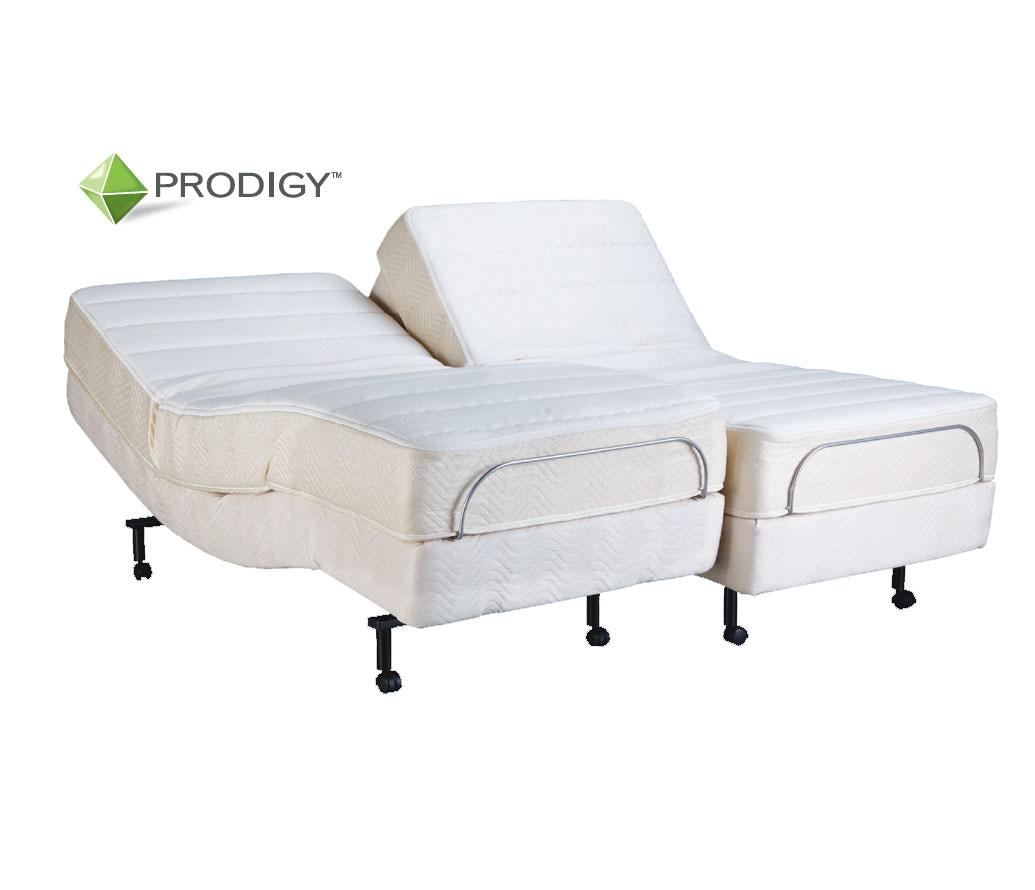 Bamboo Pillow Top Mattress Split Queen Prodigy Advanced Technology Adjustable Bed ADJ-PRODIGY ...