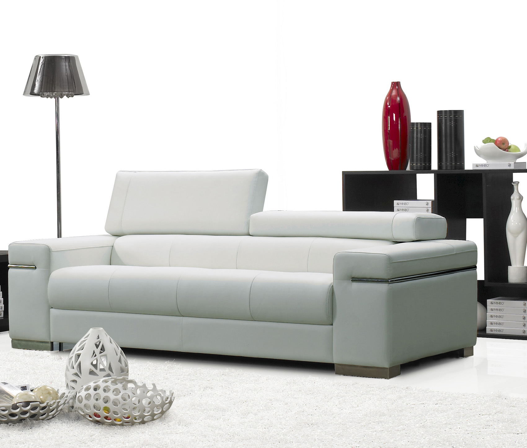 Soho Contemporary Fine Italian Leather Sofa With Adjustable Head Rest By J M Sofas Sectionals